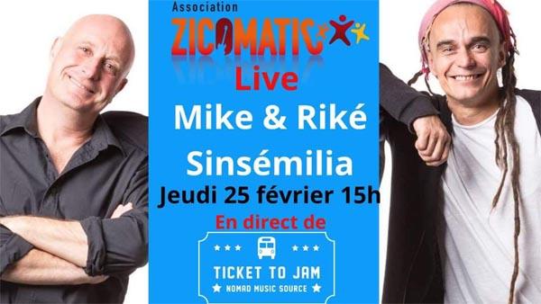 Mike & Riké De Sinsémilia – TicketToJam – Live de soutien à l'association Une Nuit pour 2500 Voix